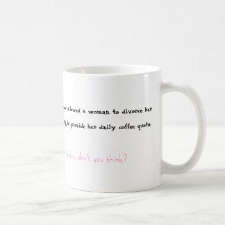 Coffee and Divorce Classic White Coffee Mug