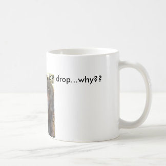 Coffee and dog lovers come together at last..... basic white mug