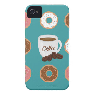 Coffee and Donuts iPhone 4 Case
