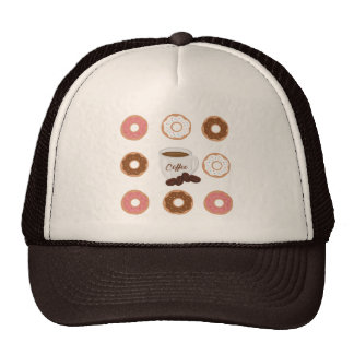 Coffee and Donuts Tote Bag Cap