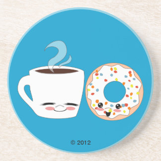 Coffee and Doughnut Pals Coaster