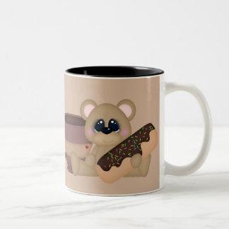 Coffee and doughnuts fun mug