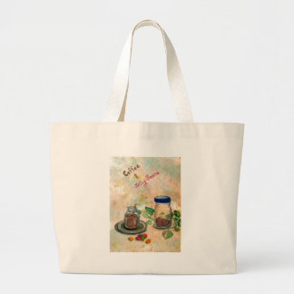 Coffee And Jelly Beans - Coffee Folk Art Tote Bag