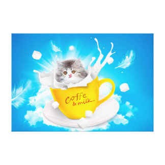 Coffee and Milk Canvas Print