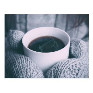 Coffee and mitt postcard