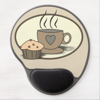 Coffee and Muffin Gel Mousepad for Coffee Lovers