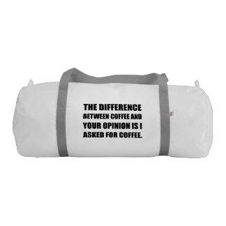 Coffee And Opinion Gym Bag