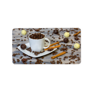 Coffee and spices label