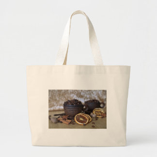 Coffee and Spices Large Tote Bag