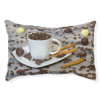 Coffee and spices pet bed