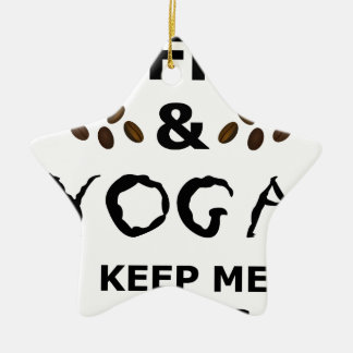 Coffee And Yoga Keep Going Ceramic Star Decoration