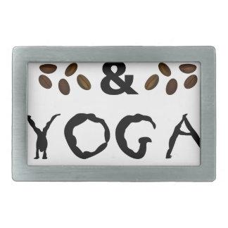 Coffee And Yoga Keep Going Rectangular Belt Buckles