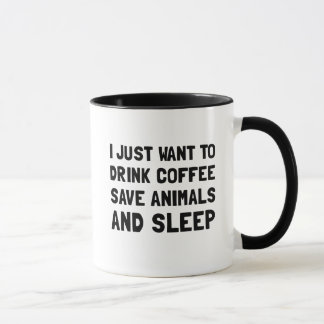 Coffee Animals Sleep Mug