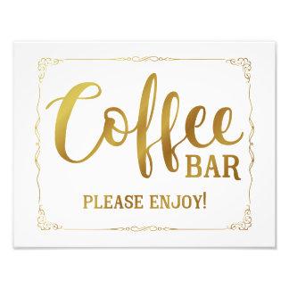 coffee bar wedding sign black