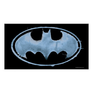 Coffee Bat Symbol - Blue Poster
