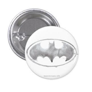 Coffee Bat Symbol - Gray 3 Cm Round Badge