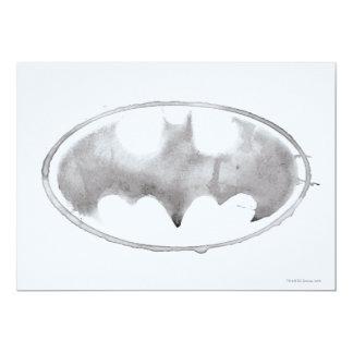 Coffee Bat Symbol - Gray Card