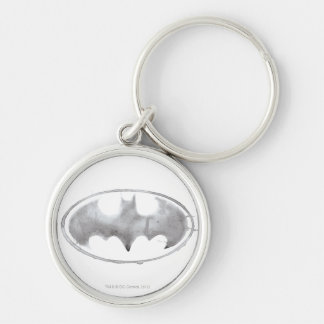 Coffee Bat Symbol - Gray Key Chains