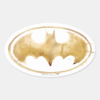Coffee Bat Symbol Oval Sticker