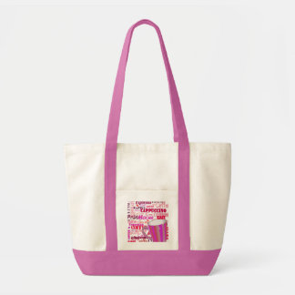 COFFEE BEACH BAG,  CAPUCCINO, MOCHA COFFEE CUP TOTE BAG