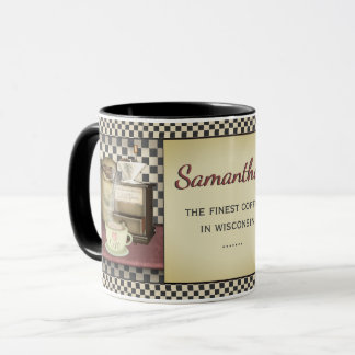 Coffee Bean Café Personalised Mug
