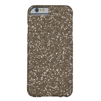 Coffee Bean Faux Glitter Barely There iPhone 6 Case