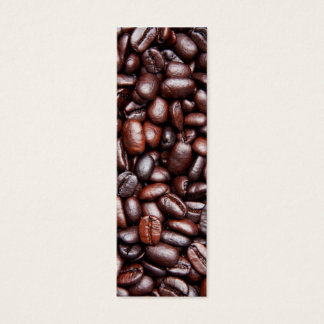 Coffee Bean Template - Customized Dark Roast Beans Mini Business Card