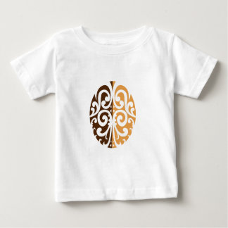 Coffee Bean with Maori Motif Baby T-Shirt