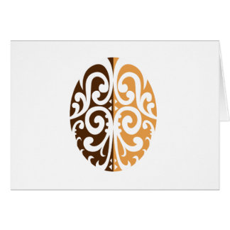 Coffee Bean with Maori Motif Card