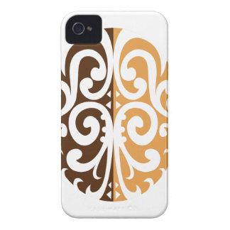 Coffee Bean with Maori Motif iPhone 4 Cases