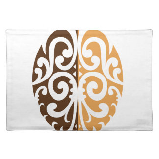 Coffee Bean with Maori Motif Placemat