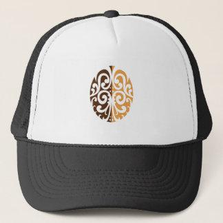 Coffee Bean with Maori Motif Trucker Hat