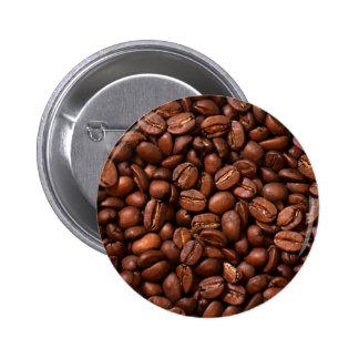Coffee Beans 6 Cm Round Badge