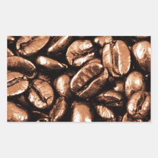Coffee Beans Abstract refreshment restaurant coca Rectangular Sticker
