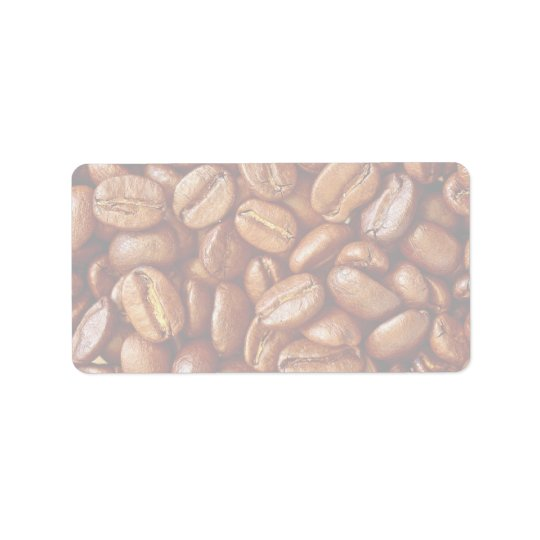 Coffee beans address label