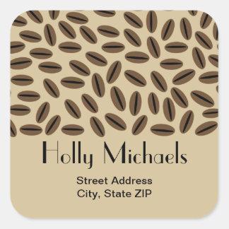 Coffee Beans Address Sticker
