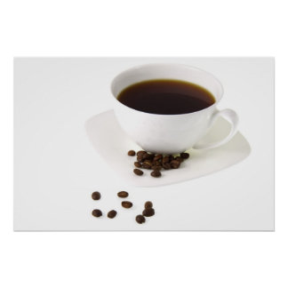 Coffee Beans and Coffee Poster