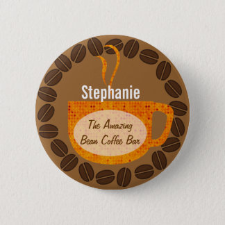Coffee Beans and Mug Button