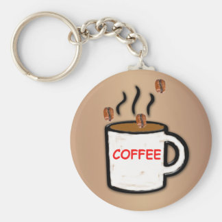 Coffee Beans and Mug Key Ring