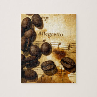 Coffee Beans and Music Notes Jigsaw Puzzle