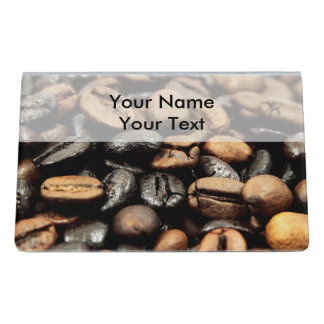 Coffee Beans Background Desk Business Card Holder