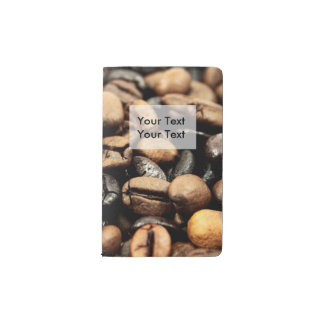 Coffee Beans Background Pocket Moleskine Notebook