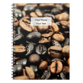 Coffee Beans Background Spiral Note Book