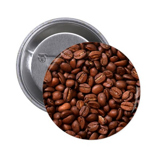 Coffee Beans Pinback Buttons