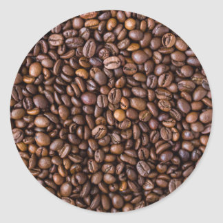 Coffee Beans! Classic Round Sticker