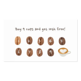 Coffee Beans Coffee Loyalty Pack Of Standard Business Cards