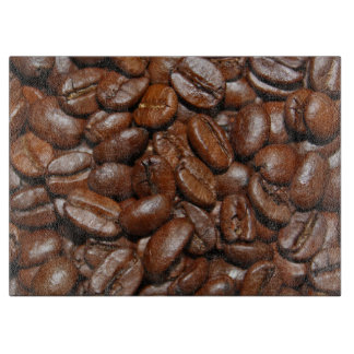 Coffee beans cutting board