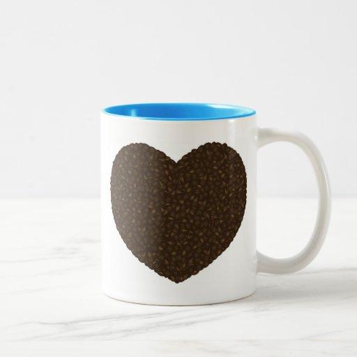 Coffee Beans Heart Shape Mug