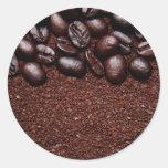 Coffee Beans - Java Bean Customised Templates Round Sticker