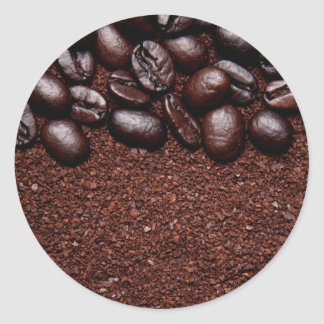Coffee Beans - Java Bean Customized Templates Round Sticker